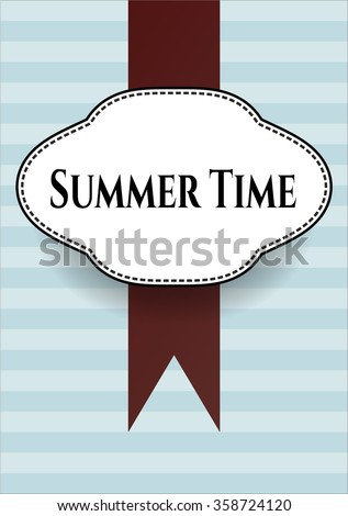Summer Time retro style card, banner or poster