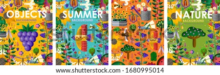 summer time  set posters of
