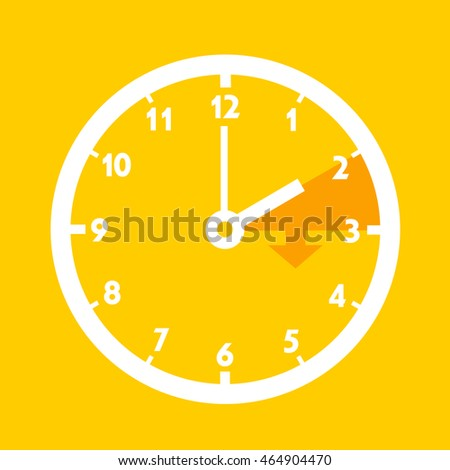 Summer time - Standard time after advancing for daylight saving time. Dial with arrow symbolizing shift of hours. Simple colorful flat design vector illustration