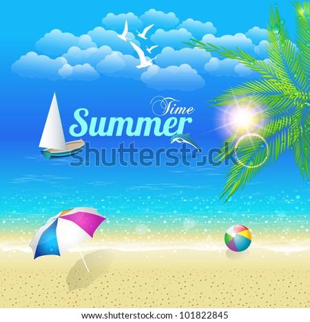Summer Time Vector Design
