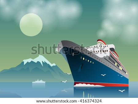 summer travel cruise ship sea