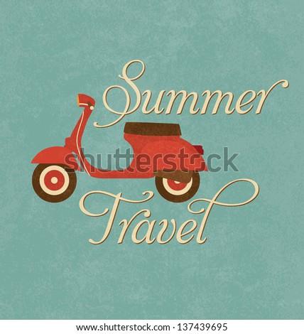 summer travel design   red