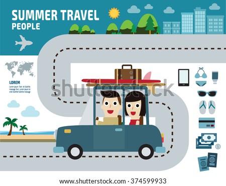 summer travel go to the beach