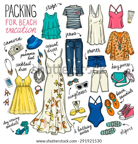 summer travel luggage packing