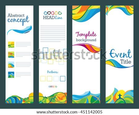 set of vertical banners download free vector art stock graphics