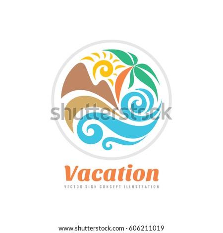 summer travel vacation vector
