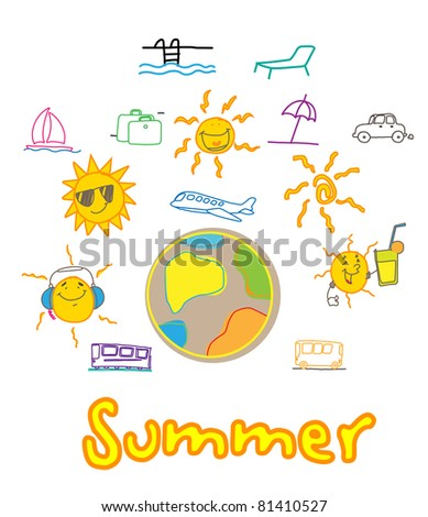 summer traveling holiday vector
