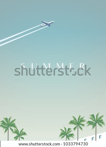 summer traveling vector poster