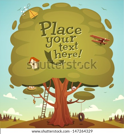 summer tree background vector