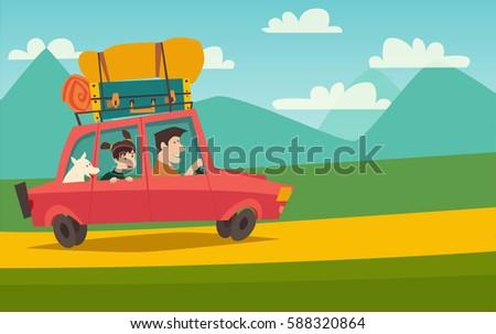 summer trip vector illustration