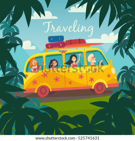 summer trip vector illustration....