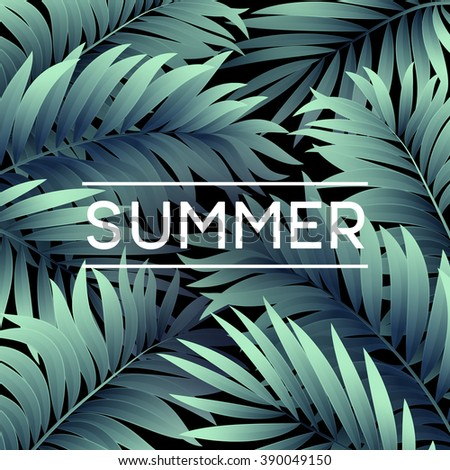 summer tropical background of...
