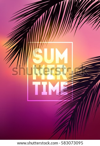 summer tropical background with