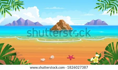 summer tropical beach with