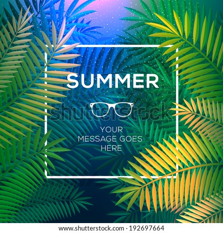 summer tropical concept