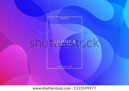 Summer tropical fluid landing page background. Fluid, liquid, wavy, gradient, flowing, purple, dynamic shape background. Trendy and modern background color. Cool banner design template.