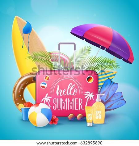summer tropical island beach
