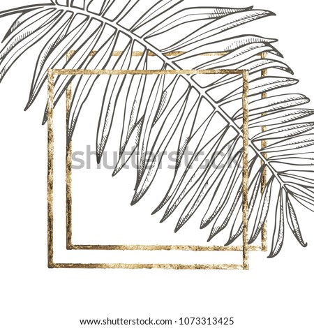 summer tropical leaves vector