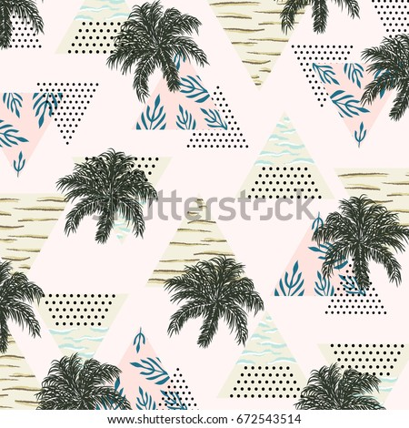 summer tropical pattern with
