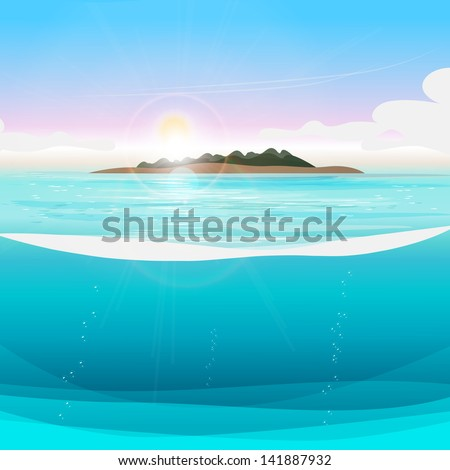 summer tropical poster   vector