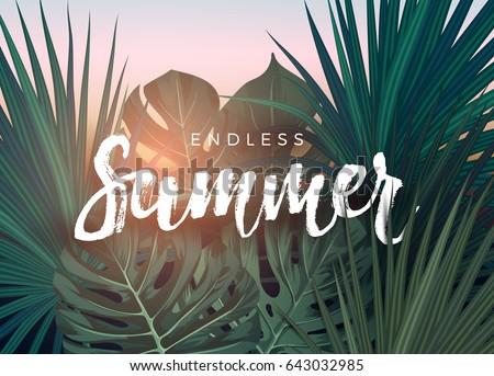 summer tropical vector design