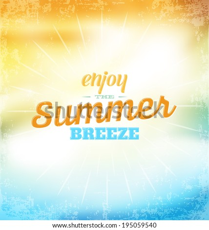 summer typographic design