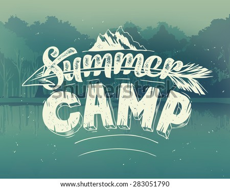 summer typography design on