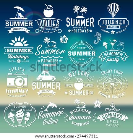 summer typography designs
