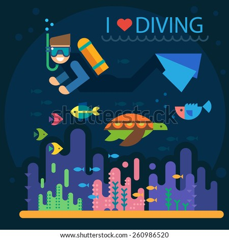 summer vacation diving diver