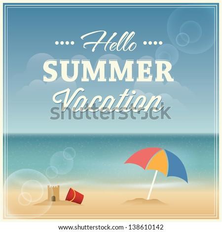 Summer Vacation Greeting Card ...