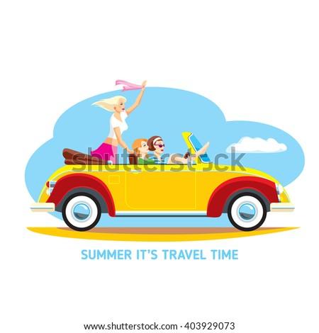 summer vacation on cabriolet