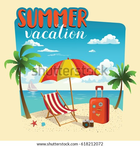 summer vacation template poster