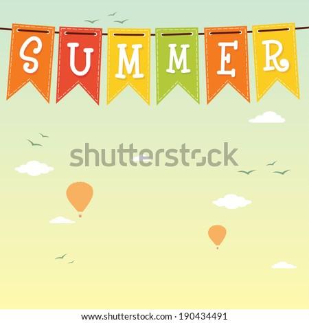 Summer. Vector background