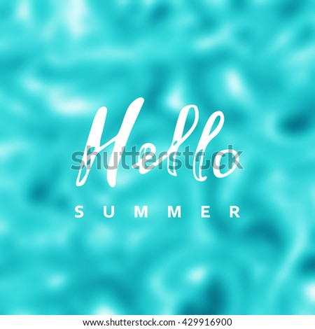 summer vector background sea