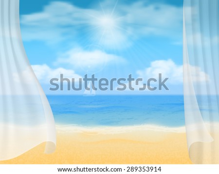 summer vector background view