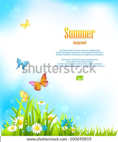 Summer vector background with space for text