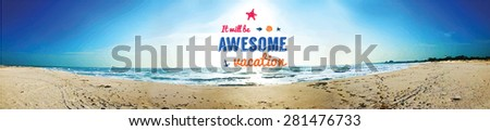 summer vector background with
