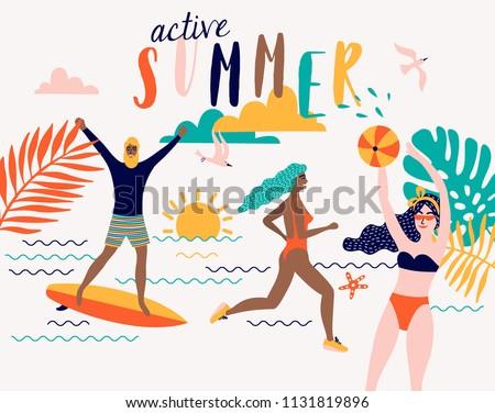 summer vector beach