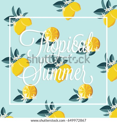 summer vector card