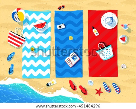 summer vector illustration of