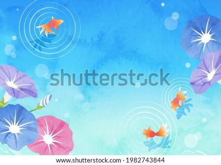 summer vector illustration of