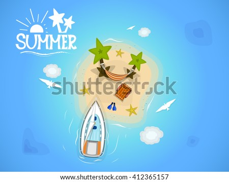 summer vector illustration top
