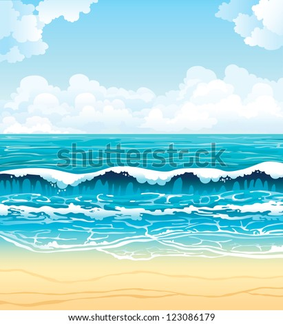 summer vector landscape