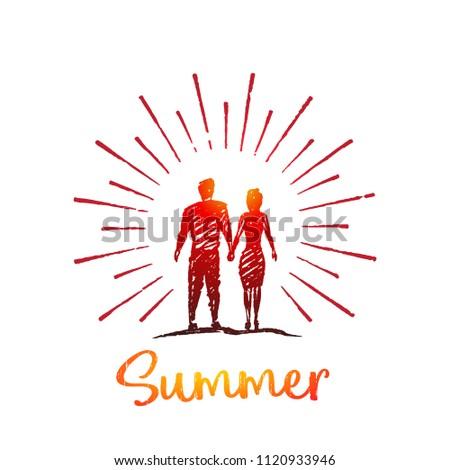 summer vector love concept