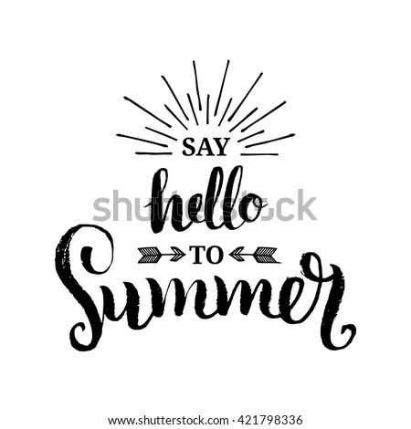 summer vector typography hand