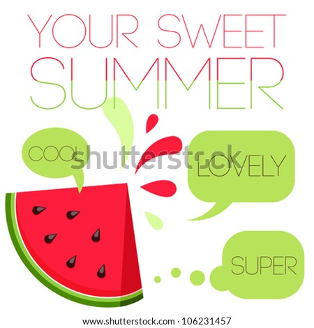 summer vector typography poster