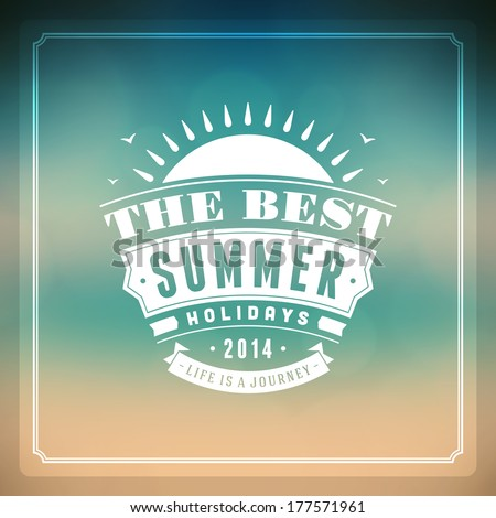 Summer vector typography Summer holidays message for your design vector background