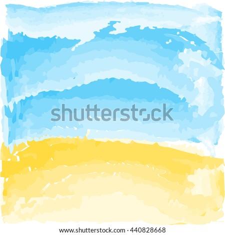 summer vector watercolor beach