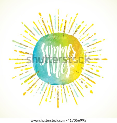 summer vibes calligraphy
