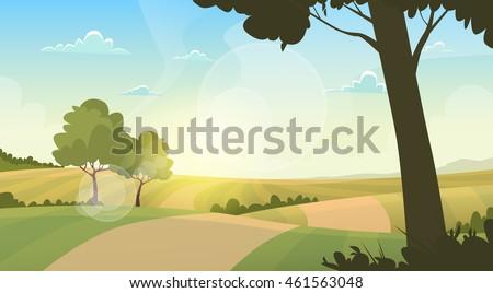 summer view landscape rural